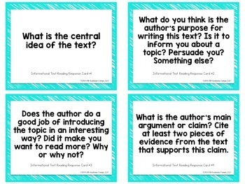 Informational Text Task Cards for Middle & High School
