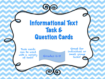 Informational Text Task & Question Cards