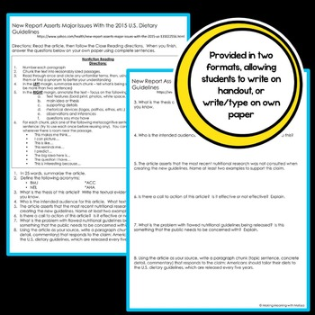 Informational Text - Teen Topics #3, Middle and High School Engaging Nonfiction