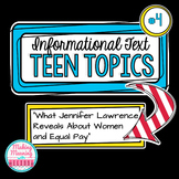 Informational Text - Teen Topics #4, Middle and High School Engaging Nonfiction