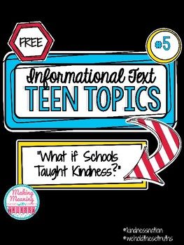 Informational Text - Teen Topics #5, Middle and High School Engaging Nonfiction