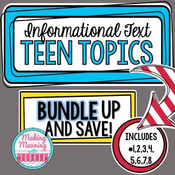 Informational Text - Teen Topics GROWING BUNDLE  Engaging Nonfiction