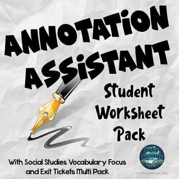 Informational Text Test Prep Annotation Assistant with Graphic Organizers
