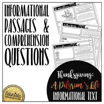 Informational Text: Thanksgiving - A Pilgrim's Life