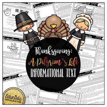 Informational Text: Thanksgiving Pilgrim   Reading Comprehension Passages