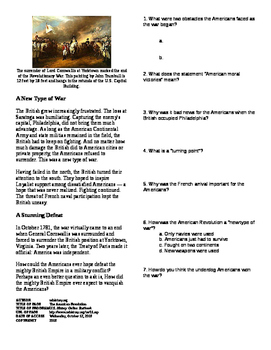 Informational Text - The American Revolution