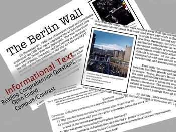 Informational Text: The Berlin Wall