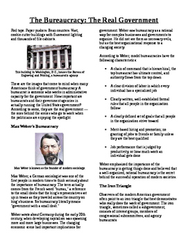 Informational Text - The Bureaucracy: The Real Government