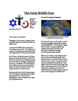 Informational Text - The Early Middle East (No Prep)