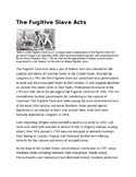 Informational Text: The Fugitive Slave Act