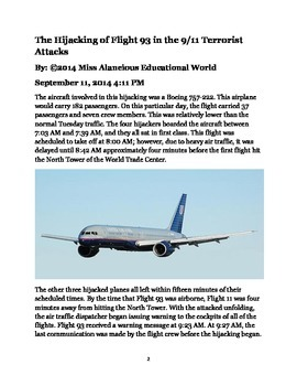 Informational Text: The Hijacking of Flight 93 in the 9/11 Terrorist Attacks