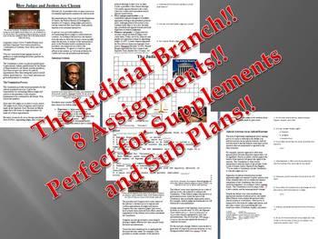 Info Reading Text - The Judicial Branch Bundle (No Prep/Sub Plans)