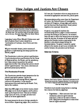 Informational Text - The Judicial Branch: How Judges are C