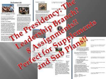 Informational Reading Text - The Presidency Bundle (No Prep/Sub Plans)