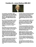 Info Reading Text - US Presidents: James Madison (No Prep Sub Plans)