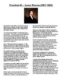 Info Reading Text - US Presidents: James Monroe (No Prep/Sub Plans)