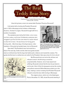 Informational Text: The Real Teddy Bear