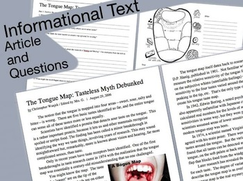 Informational Text: The Tongue Map