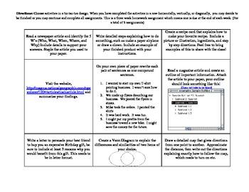 Informational Text Tic-Tac-Toe
