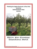 Informational Text: Visiting An Apple Orchard: A Fall Fun Activity!