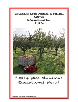 Informational Text: Visiting An Apple Orchard: A Fall Fun