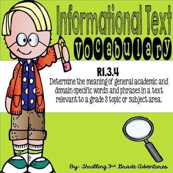 Informational Text Vocabulary: RI 3.4
