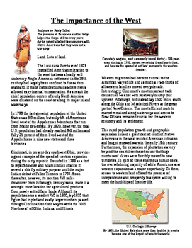 Info Reading Text - Expansion and War 1812: The Importance of the West (No Prep)