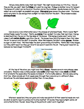 Informational Text- What Do Plants Need To Live