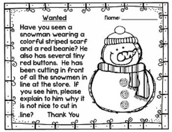 Snowman Activities for Winter