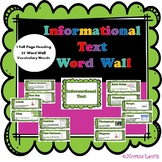 Informational Text Word Wall
