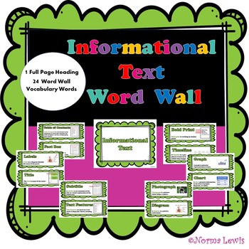 Word Wall Words for Informational Text