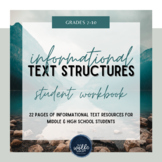 Informational Text Structures Workbook