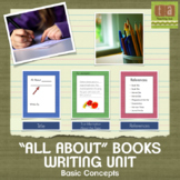 """All About"" Books Writing Unit With Checklists (Basic)"