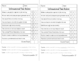 Informational Text Writing Rubric