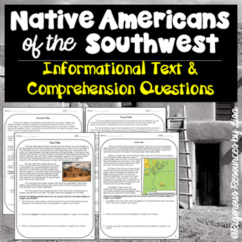 Native Americans of the Southwest-Informational Text and Comprehension Questions