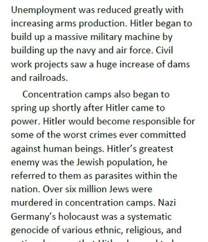 Informational Text and Comprehension Questions for Adolf Hitler