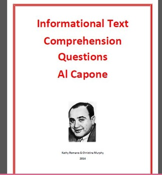 Informational Text and Comprehension Questions for Al Capone