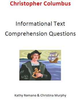 Informational Text and Comprehension Questions for Christopher Columbus