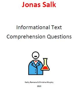 Informational Text and Comprehension Questions for Jonas Salk