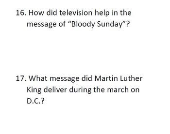 Informational Text and Comprehension Questions for Martin Luther King