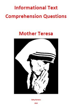 Informational Text and Comprehension Questions for Mother Teresa