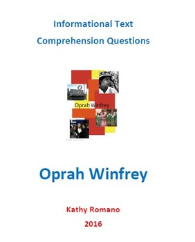 Informational Text and Comprehension Questions for Oprah Winfrey