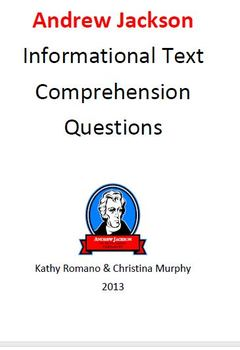 Informational Text and Comprehension Questions on Andrew Jackson