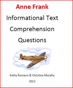 Informational Text and Comprehension Questions on Anne Frank