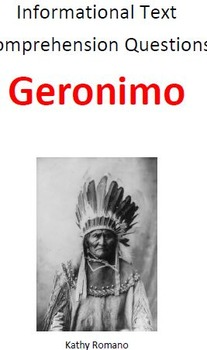 Informational Text and Comprehension Questions on Geronimo