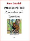 Informational Text and Comprehension Questions on Jane Goodall
