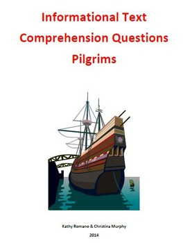 Informational Text and Comprehension Questions on the Pilgrims