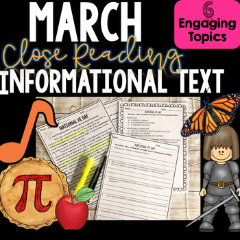 Informational Text and Nonfiction Close Reading for March - Author's Purpose
