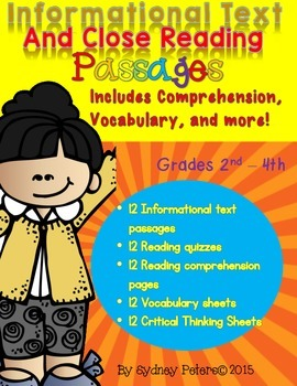 Informational Text and Nonfiction Reading Comprehension and Quizzes