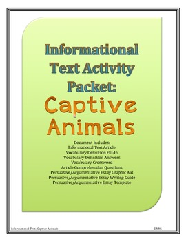 Informational Text and Persuasive/Argumentative Writing: Captive Animals